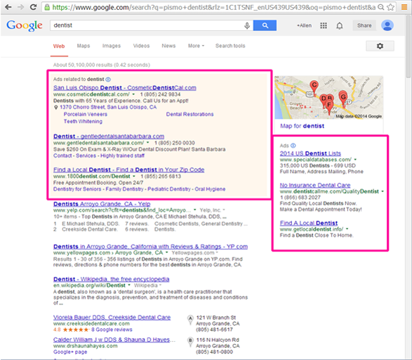 Search Engine PPC Results