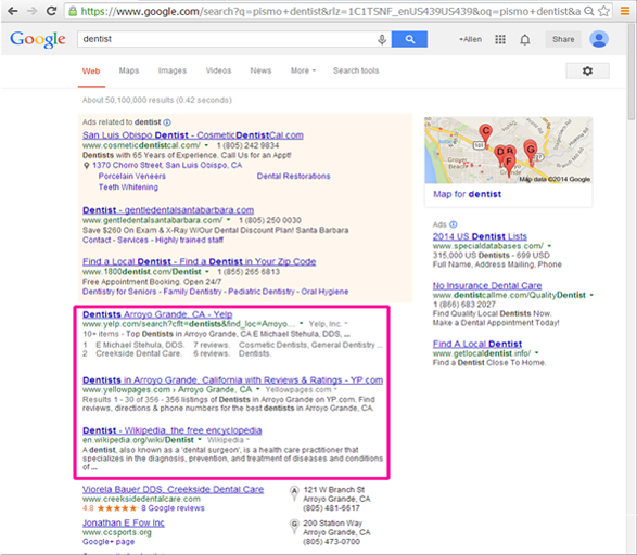 Search Engine Results - Organic Results